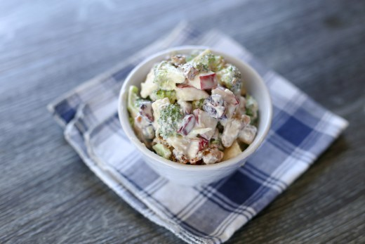 Fresh Broccoli and Apple Salad with Walnuts 1
