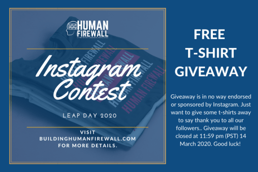 Human Firewall (HMNFW) is a Cyber Security Lifestyle Store Giveaway (Closed)