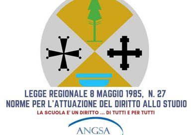 LEGGE REGIONALECALABRIA 8 maggio 1985, n. 27Norme per l'attuazione del diritto allo studio.