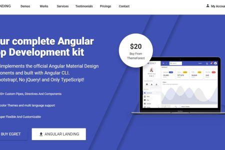 Angular Material Design Landing Page