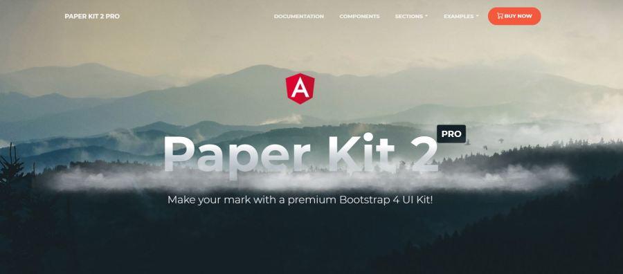 Paper Kit 2 Pro Angular with Bootstrap 4 UI Kit - Angular