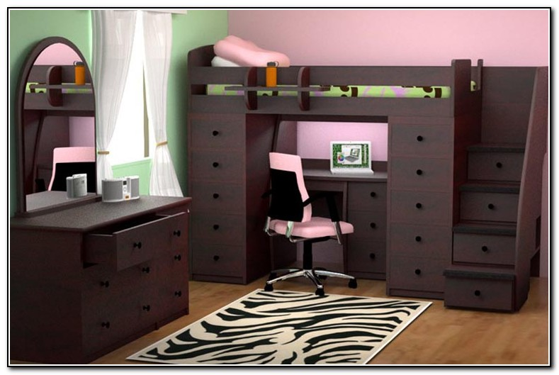 Full Loft Bed With Desk Canada Beds Home Design Ideas