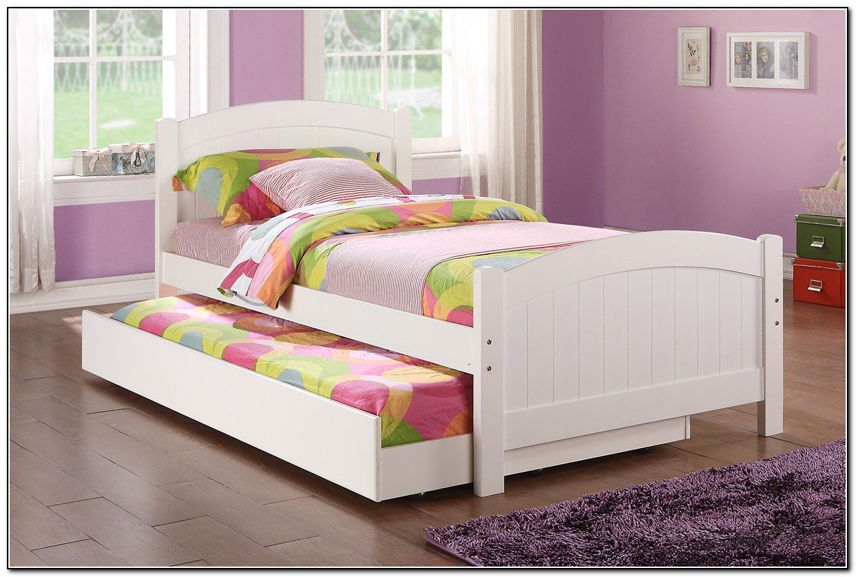 White Twin Bed With Trundle Beds Home Design Ideas
