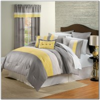 Yellow And Gray Bedding Set - Beds : Home Design Ideas # ...