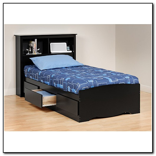 Twin Platform Bed Frame With Storage Beds Home Design