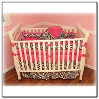 Pink Zebra Crib Bedding - Beds : Home Design Ideas # ...