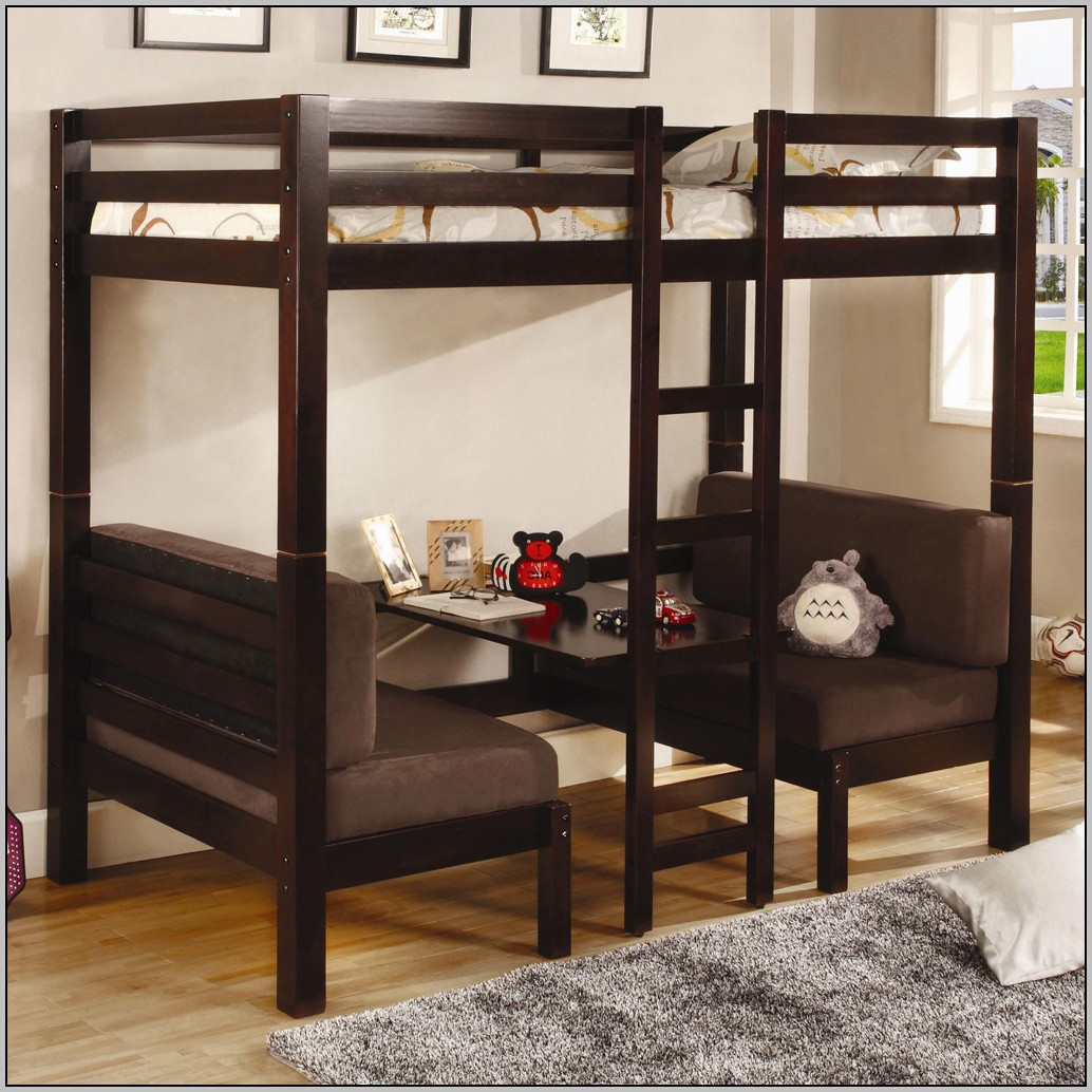 loft bed with desk and futon chair plastic straps for patio chairs home design
