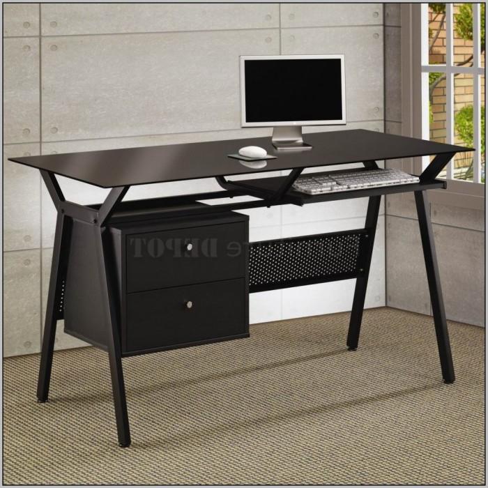 Large Black Writing Desk  Desk  Home Design Ideas