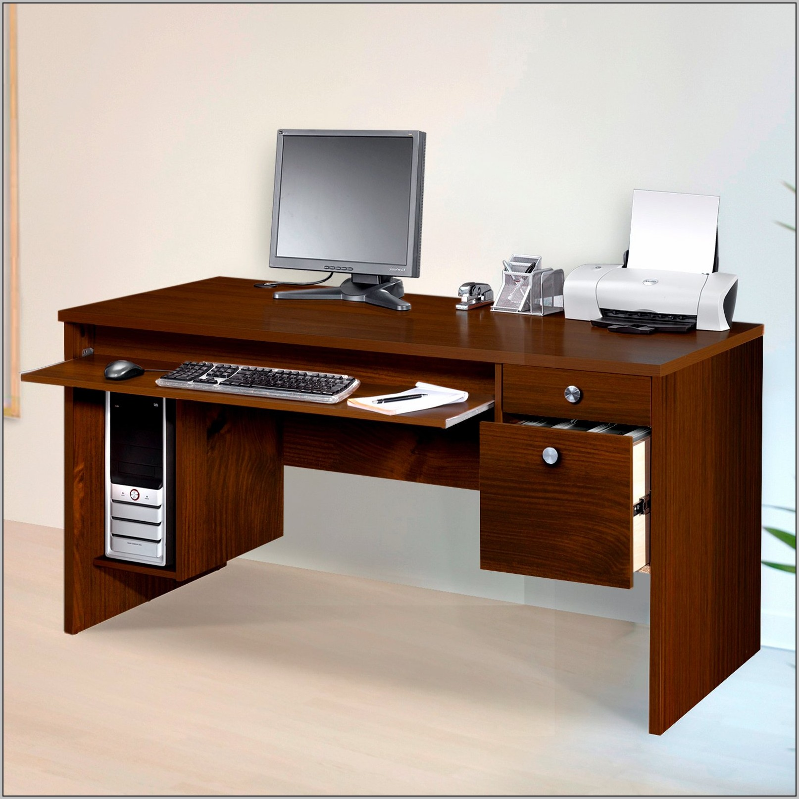 Corner Desk With File Drawers  Desk  Home Design Ideas