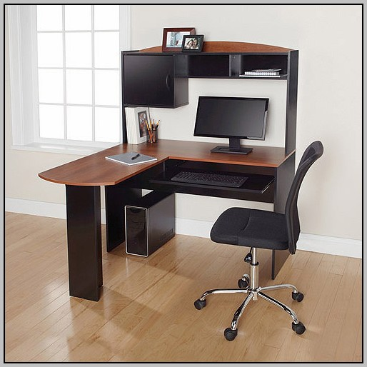 Mainstays L Shaped Desk With Hutch Dimensions  Desk