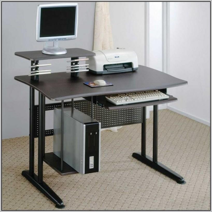Metal Computer Desk With Hutch  Desk  Home Design Ideas