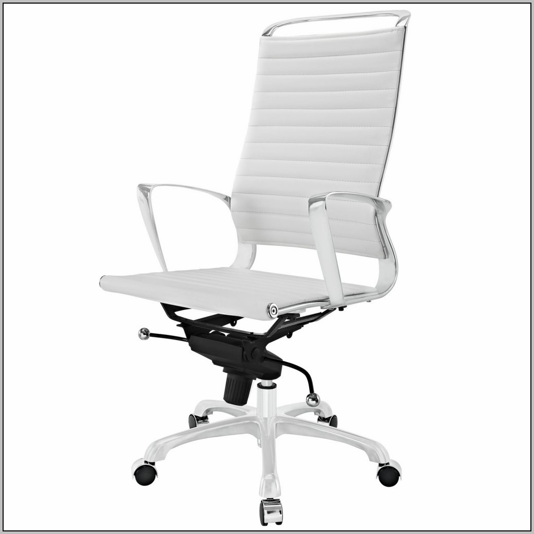 modern white office chairs dining chair covers home depot leather desk design