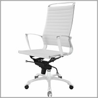 White Leather Office Chair Modern - Desk : Home Design ...