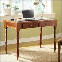 Wood Writing Desk With Metal Legs - Desk : Home Design ...