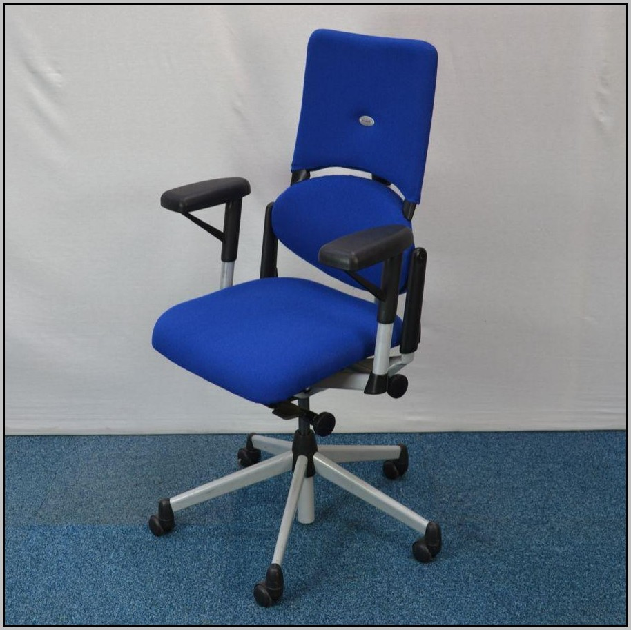 Blue Office Chair No Arms  Desk  Home Design Ideas