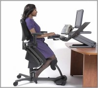 Kneeling Office Chair With Back - Desk : Home Design Ideas ...