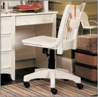 White Wooden Swivel Desk Chair - Desk : Home Design Ideas ...
