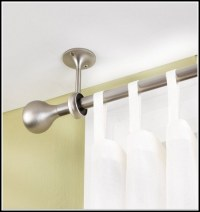 Ceiling Mount Curtain Rod Brackets - Curtains : Home ...