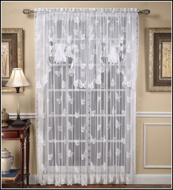 Butterfly Lace Curtain Panel