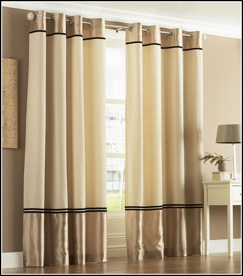 Gold And Black Eyelet Curtains  Curtains  Home Design