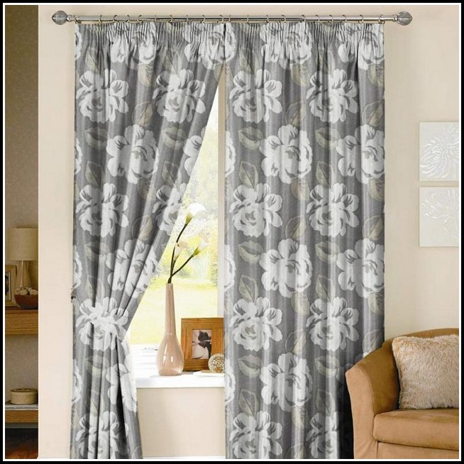 Grey And White Curtains Walmart  Curtains  Home Design