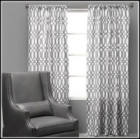 White And Grey Nursery Curtains