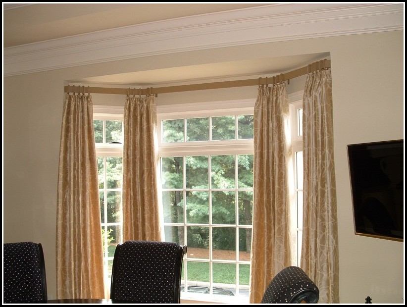 Bay Window Double Curtain Rods Curtains Home Design Ideas GoD6w4yQ4L37566