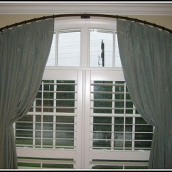 Bay Window Kitchen Curtains Full Set Treatments For Half Arched Windows - ...