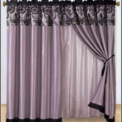 Purple Corner Sofa Bed Fabric Chesterfield Set Dark Curtain Panels - Curtains : Home Design Ideas ...