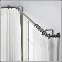 Kirsch Lockseam Bay Window Double Curtain Rod - Curtains ...