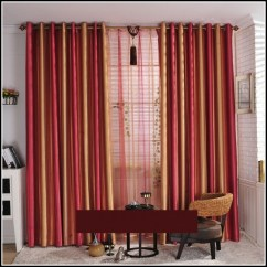 Kitchen Nook Curtains Cabinets Richmond Va Red Green And Gold Striped - : Home ...