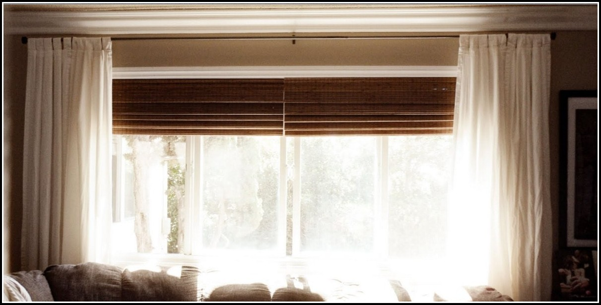 Window Curtains Over Wood Blinds Curtains Home Design