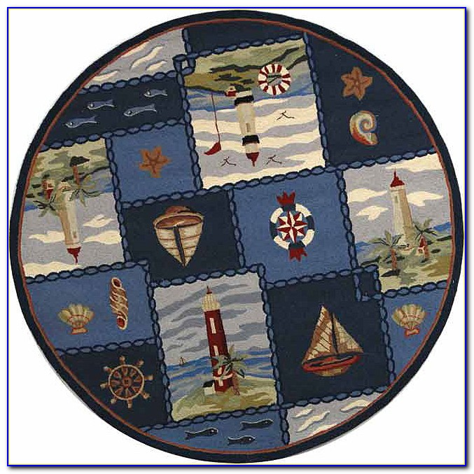 Nautical Area Rug Round Download Page  Home Design Ideas
