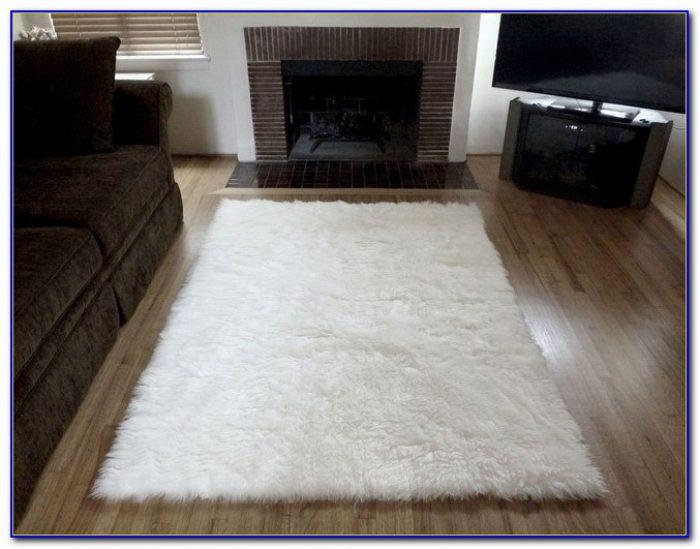 White Furry Rug Ikea  Rugs  Home Design Ideas
