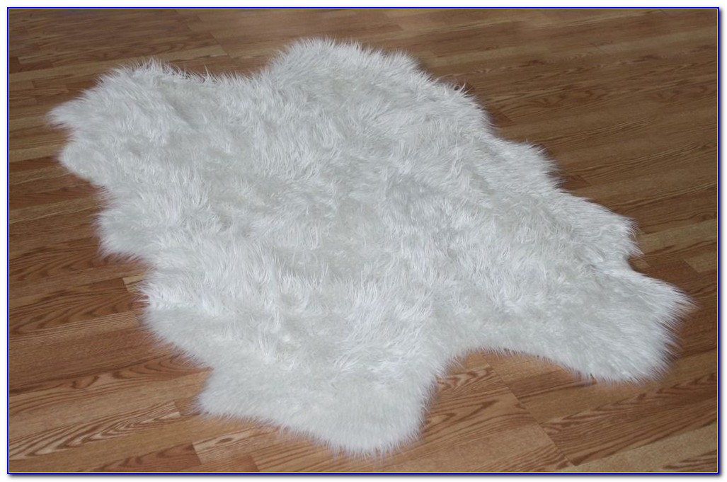 White Faux Fur Rug Target  Rugs  Home Design Ideas