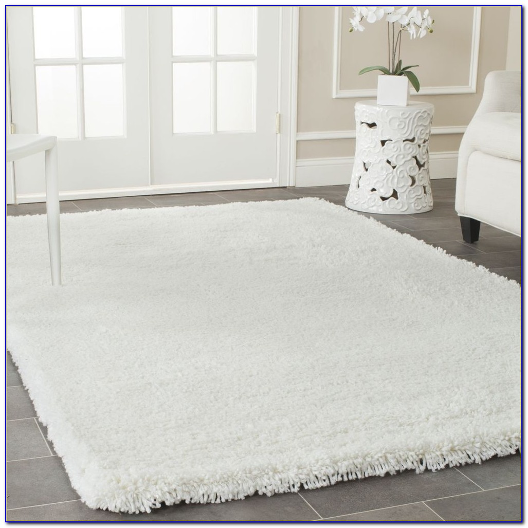 White Fluffy Area Rug  Rugs  Home Design Ideas