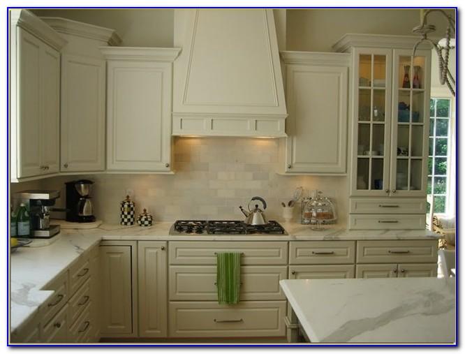 cream colored kitchen cabinets cabinet knob subway tile backsplash - tiles : home design ...