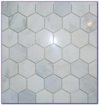 Hexagon Carrara Marble Mosaic Tile - Tiles : Home Design ...
