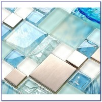 How To Install Glass Mosaic Tile Sheets - Tiles : Home ...