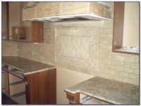 36 Travertine Subway Tile Backsplash