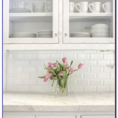 Shaker Style Kitchen Cabinet Hardware Stainless Faucet White Beveled Subway Tile Gray Grout - Tiles : Home Design ...