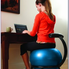 Exercise Ball Office Chair Size Ergonomic Calgary Desk Home Design Ideas