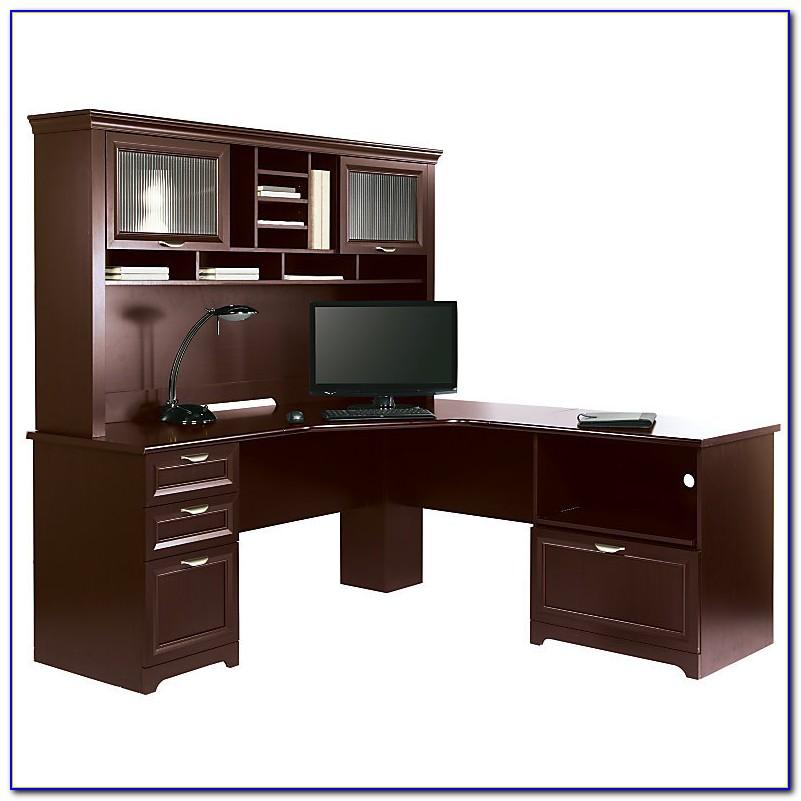Realspace Magellan L Shaped Desk And Hutch Bundle  Desk