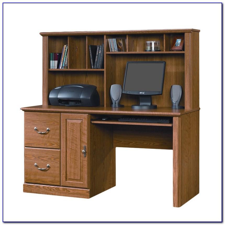 Sauder Orchard Hills Computer Desk With Hutch Cherry