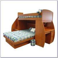 Solid Wood Bunk Bed With Desk And Drawers Download Page ...