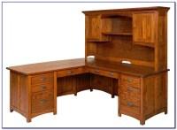 Solid Wood Corner Computer Desk With Hutch - Desk : Home ...