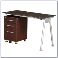 Staples Tempered Glass Computer Desk - Desk : Home Design ...