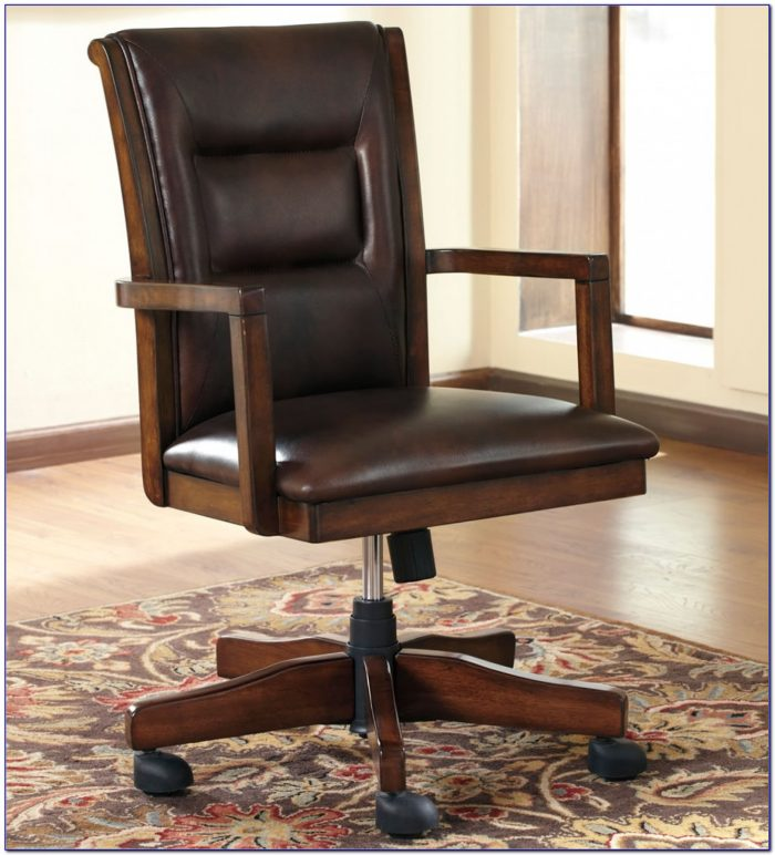 Wooden Swivel Desk Chairs  Desk  Home Design Ideas