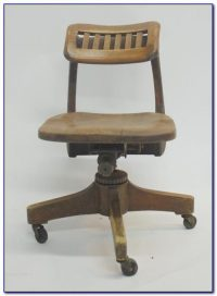Wooden Swivel Desk Chairs