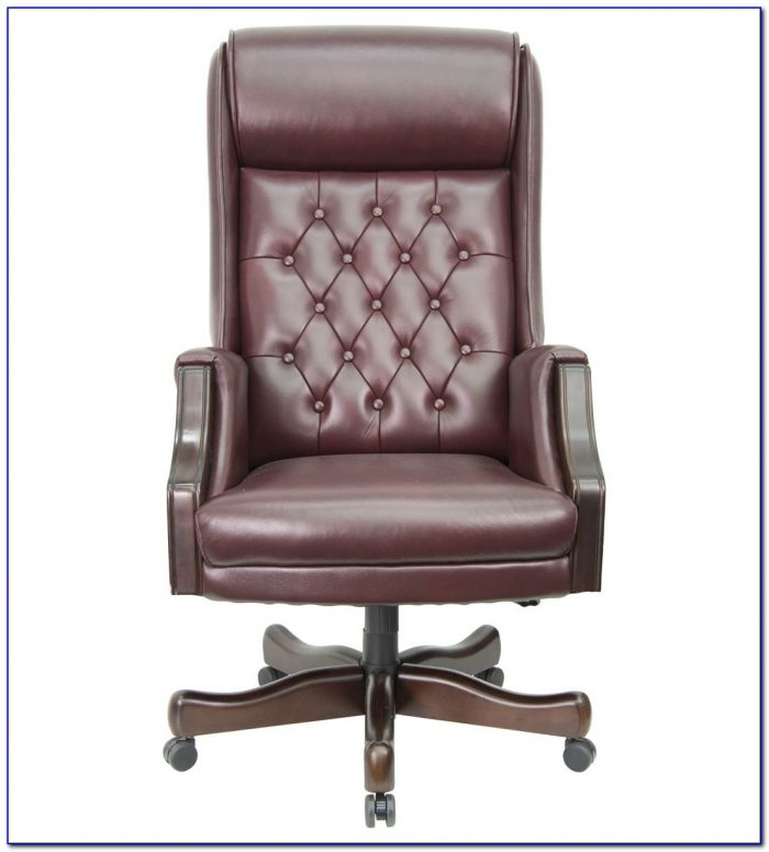 Distressed Brown Leather Office Chair  Desk  Home Design